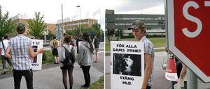 Protester mot Astra i Lund, mitten av 2000-talet