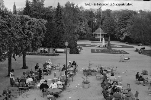 1963 Utsikt fr Stadsparkscafeet