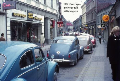 1967 Högertrafiken Dag 1 Fiskaregatan