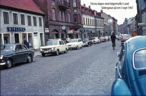 1967 Högertrafiken Dag 1 Södergatan