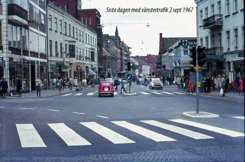 1967 Vänstertrafik Sista dagen Södergatan